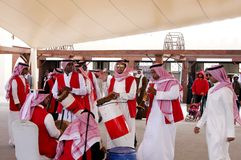 Traditional musician performs Bahrain Airshow 2012 Royalty Free Stock Photos