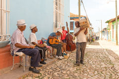 Traditional Musicians and Everyday Life in Trinidad, Cuba Stock Image