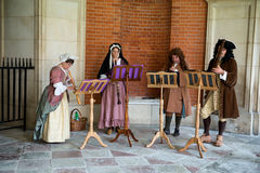 Traditional Musicians perform at Hampton Court Stock Image