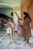 Traditional Musicians perform at Hampton Court Royalty Free Stock Photos