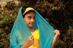 Traditional Muslim Girl. A beautiful Muslim girl in her traditional dress Royalty Free Stock Photography