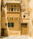 Traditional narrow street in Mdina. Traditional narrow silent street in Mdina. Malta Royalty Free Stock Image
