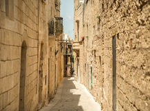 Traditional narrow street in Mdina. Traditional narrow silent street in Mdina. Malta Royalty Free Stock Photography
