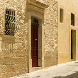 Traditional narrow street in Mdina Royalty Free Stock Photography