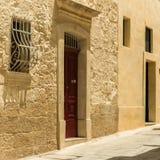 Traditional narrow street in Mdina Royalty Free Stock Photography