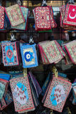 Traditional national embroidery, with folk motifs and patterns Stock Image