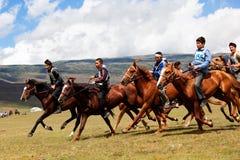 Traditional national nomad horse riding Stock Image