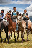 Traditional national nomad horse riding Royalty Free Stock Photography