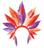 Traditional Native American headdress. Indian Headdress. Bitmap illustration with additional vector file in EPS format Royalty Free Stock Photo