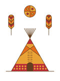 Traditional native american tipi Royalty Free Stock Photo