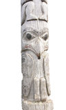 Traditional native totem pole Royalty Free Stock Image