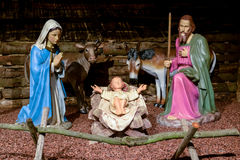 Traditional nativity scene Stock Images