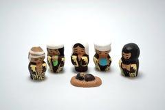 Traditional Crib Set in Ceramics royalty free stock photo