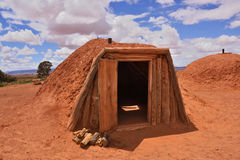 Traditional Navajo home Stock Images