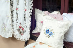 Traditional needlework decor stock images