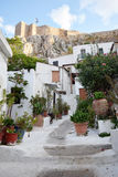 Traditional neighborhood. Under Acropolis in Athens, Greece Stock Image