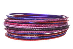Traditional Nepalese Bangles Macro Isolated Stock Photography