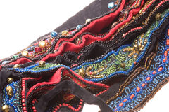 Traditional Nepalese Beaded Belts Macro Isolated Royalty Free Stock Images