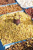 Traditional Nepalese Fried Nuts and Beans Royalty Free Stock Photos