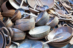Traditional Nepalese Pots and Pans Stock Photos