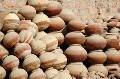 Traditional nepalese pottery,India,Rajasthan Royalty Free Stock Images