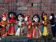 Traditional Nepalese puppets Royalty Free Stock Photography