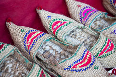 Traditional Nepalese Shoes Stock Image