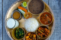 Traditional Nepalese thali Stock Photography