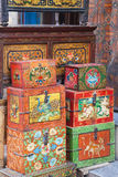 Traditional Nepalese Trinket Boxes Stock Photography