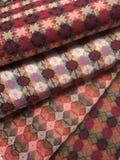 Traditional Nepali hand woven fabric upclose Stock Photo
