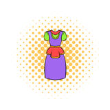Traditional Netherlands costume icon, comics style Royalty Free Stock Images