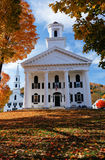 Traditional New England buildings in the fall Stock Photo
