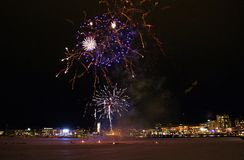 Traditional New Year celebrations in Luleå Stock Image