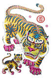 Traditional New Year pictures - the tiger Royalty Free Stock Images