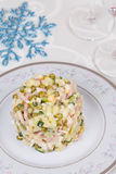 Traditional New Year's salad olivier Royalty Free Stock Images