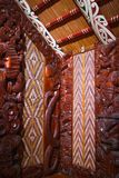 Traditional New Zealand Maori Wood Carving royalty free stock image