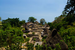 Traditional Ngada Village Bena Royalty Free Stock Images
