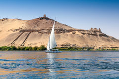 Traditional Nile Felucca Stock Photos