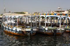 Traditional Nile motoboat. Modern  traditional rever nile motor boat Royalty Free Stock Photos