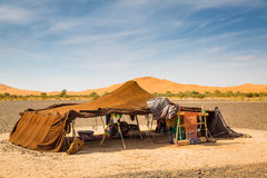 Traditional nomadic dwelling place. On the edge of Sahara desert in Morocco Stock Photo