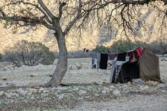 Nomads tent in Zagros mountains Iran stock images