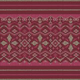 Traditional nordic ornament knit and embroidery Stock Photo