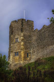 Traditional Norman English Castle in Lewes, Sussex Royalty Free Stock Photography