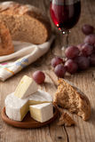 Traditional Normandy Camembert Cheese With Bread Stock Photos