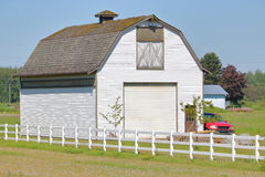 Traditional North American White Barn Royalty Free Stock Photography
