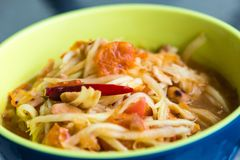 Traditional North Eastern Thai food. Taken from side close up shot Stock Photos