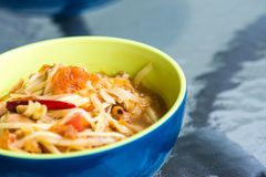 Traditional North Eastern Thai food. Taken from side close up shot Royalty Free Stock Images
