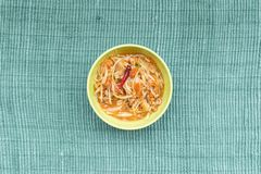 Traditional North Eastern Thai food. Taken from top view royalty free stock photos