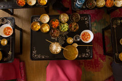 Traditional North Korean cuisine Royalty Free Stock Photography
