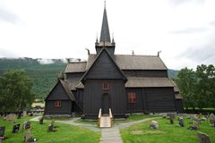 Traditional northern church Royalty Free Stock Photos